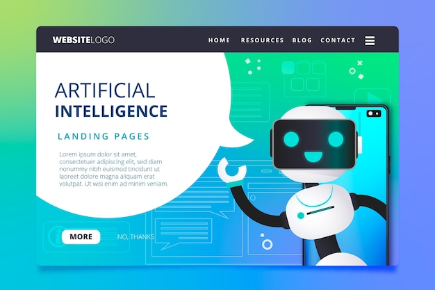 Pagina di destinazione dell'intelligenza artificiale
