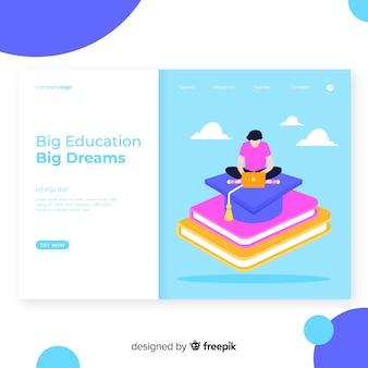Pagina di destinazione dell'istruzione online