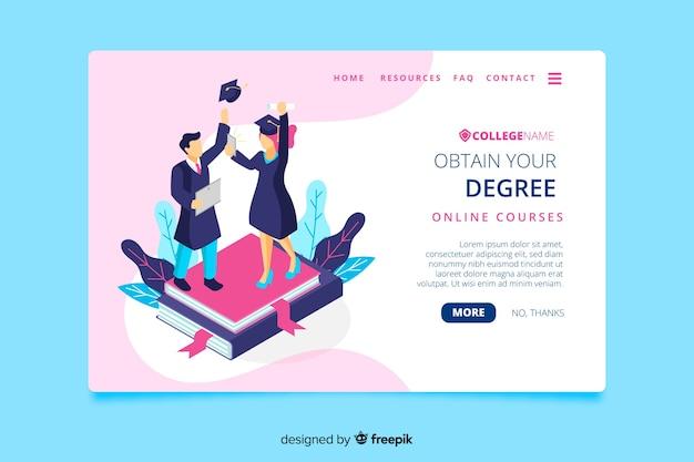 Pagina di destinazione dell'università