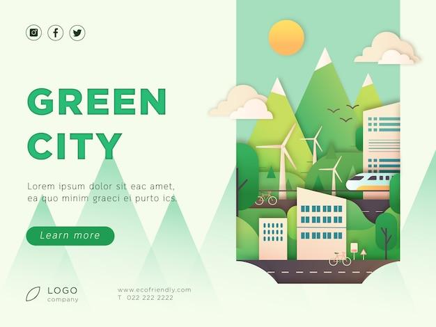 Pagina di destinazione della città ecologica