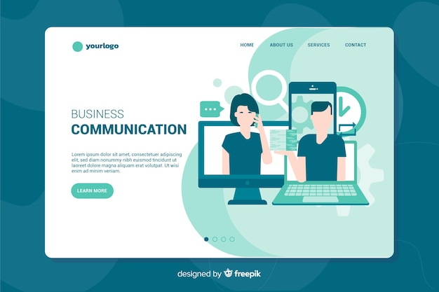 Pagina di destinazione della comunicazione aziendale
