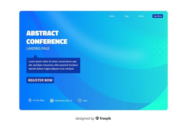 Pagina di destinazione della conferenza