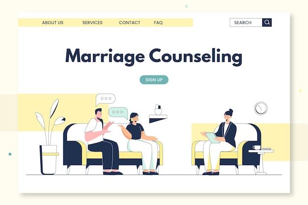 Pagina di destinazione della consulenza matrimoniale