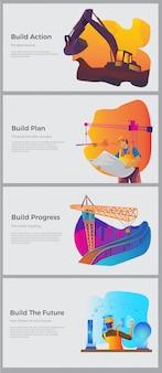 Pagina di destinazione della costruzione del lavoro