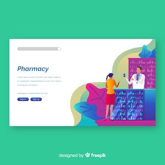 Pagina di destinazione della farmacia colorata