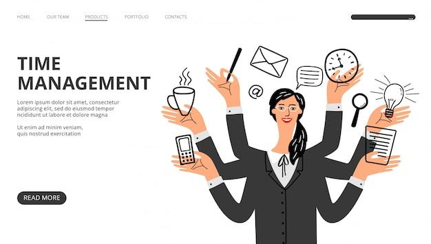 Pagina di destinazione della gestione del tempo