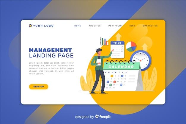 Pagina di destinazione della gestione