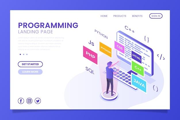 Pagina di destinazione della homepage di programmazione