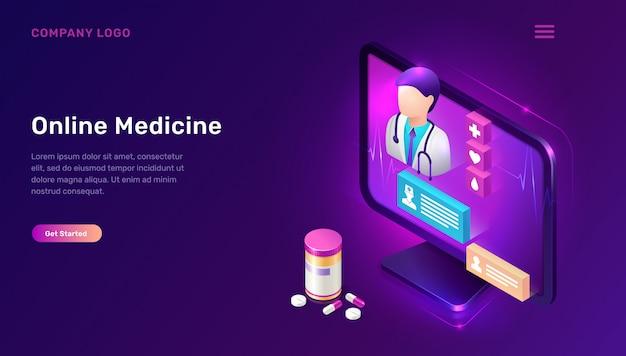 Pagina di destinazione della medicina online