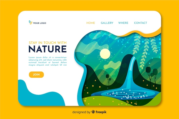 Pagina di destinazione della natura