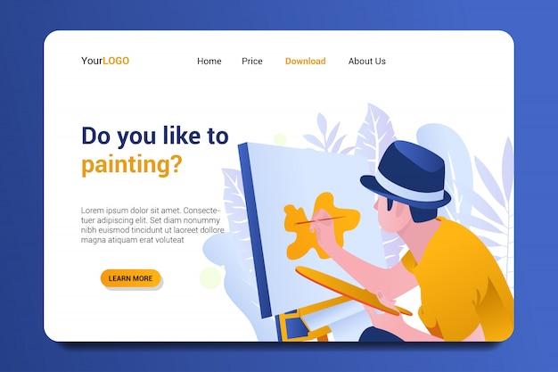 Pagina di destinazione della pittura