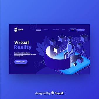 Pagina di destinazione della realtà virtuale