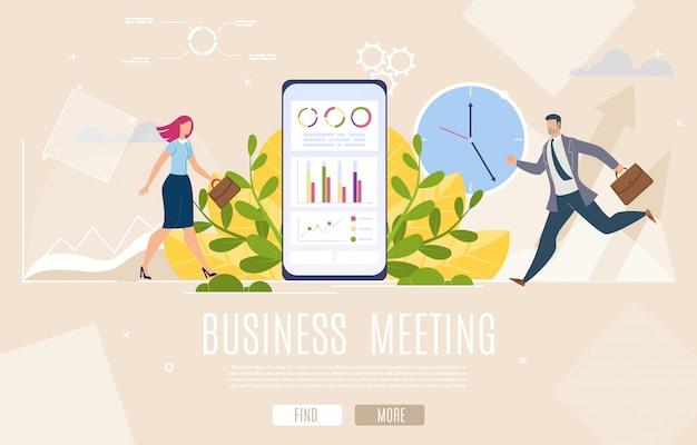 Pagina di destinazione della riunione dei dirigenti aziendali