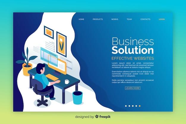 Pagina di destinazione della soluzione aziendale