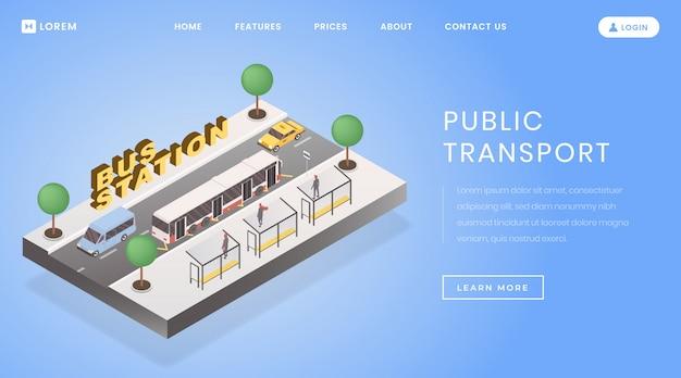 Pagina di destinazione della stazione degli autobus