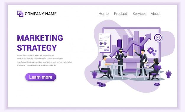 Pagina di destinazione della strategia di marketing.