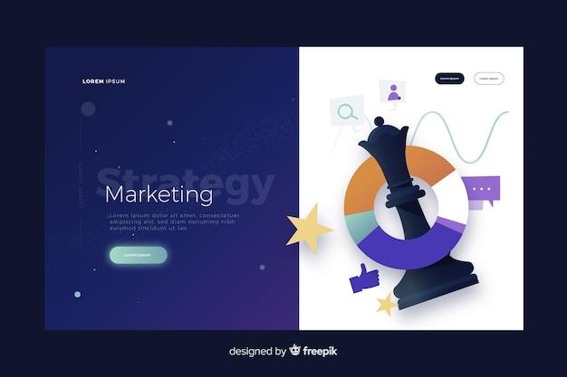 Pagina di destinazione della strategia di marketing