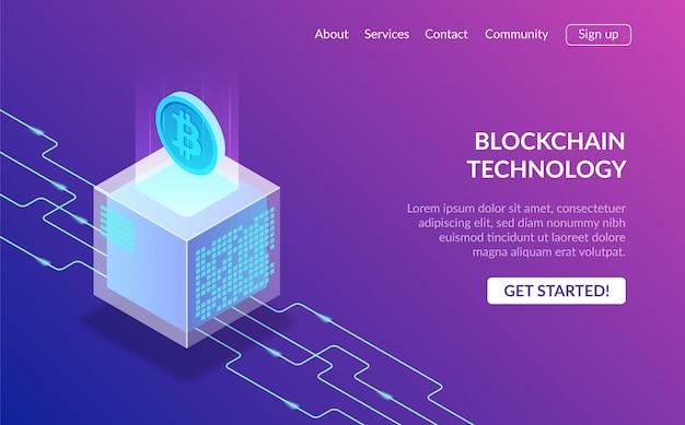 Pagina di destinazione della tecnologia blockchain