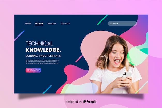 Pagina di destinazione della tecnologia della conoscenza