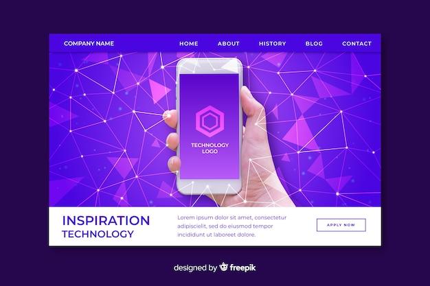 Pagina di destinazione della tecnologia di ispirazione
