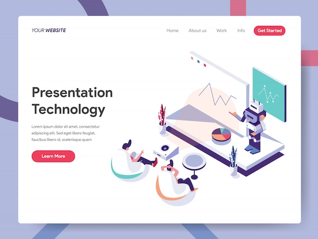 Pagina di destinazione della tecnologia di presentazione
