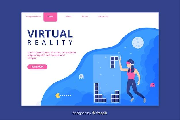 Pagina di destinazione della tecnologia di realtà virtuale