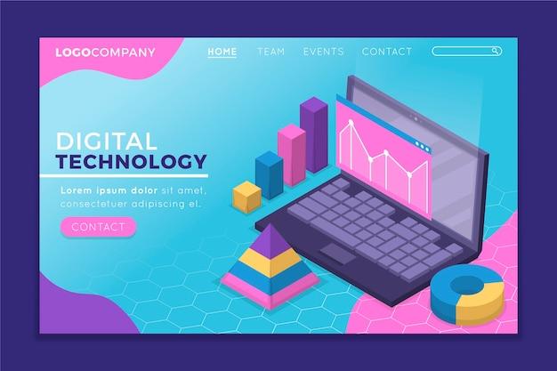 Pagina di destinazione della tecnologia isometrica