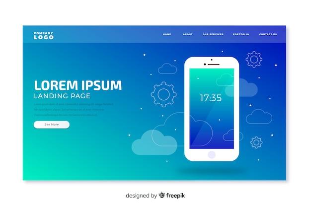 Pagina di destinazione della tecnologia mobile
