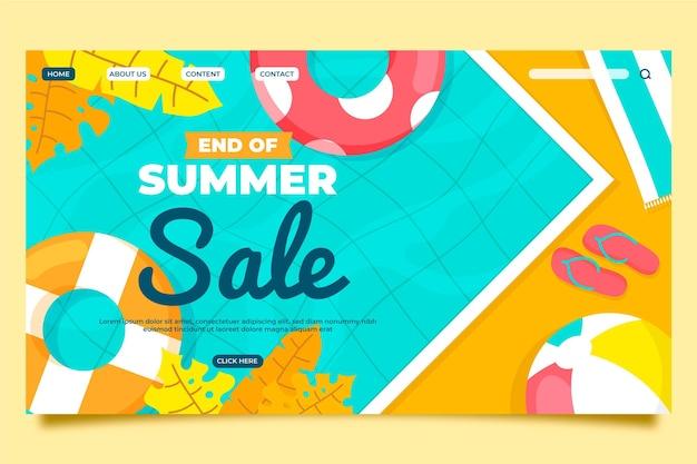 Pagina di destinazione della vendita estiva di fine stagione