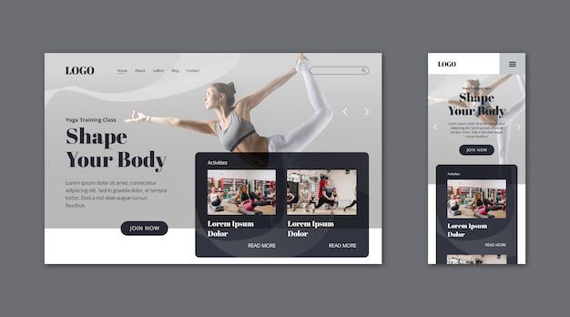 Pagina di destinazione della webtemplate per la forma del corpo