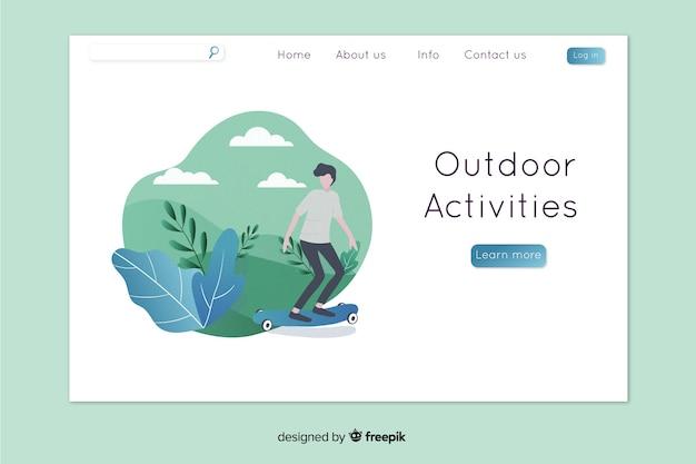Pagina di destinazione delle attività all'aperto