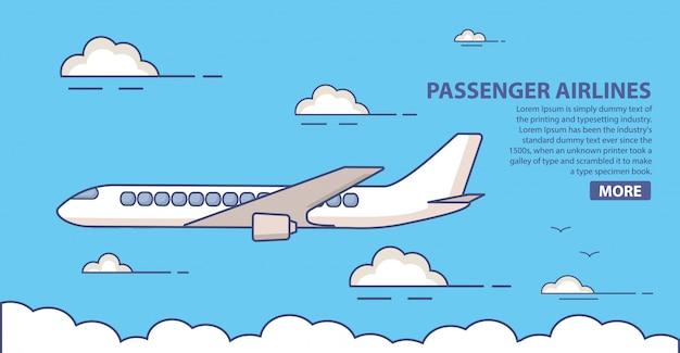Pagina di destinazione delle compagnie aeree passeggeri
