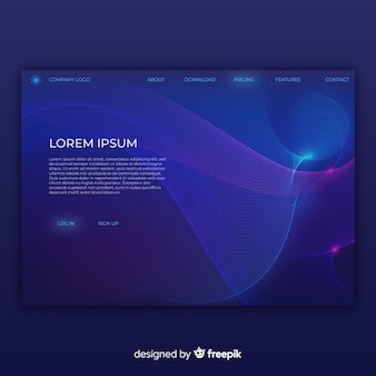Pagina di destinazione delle forme lineari