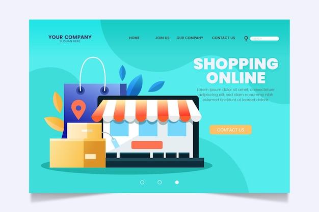 Pagina di destinazione dello shopping online di design piatto
