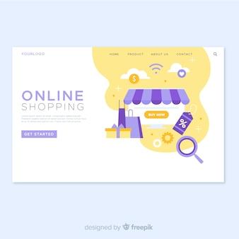 Pagina di destinazione dello shopping online