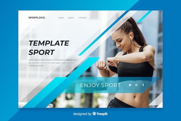 Pagina di destinazione dello sport modello
