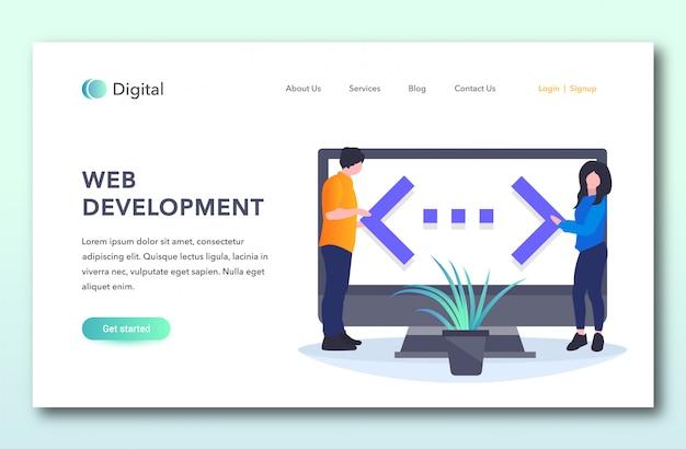 Pagina di destinazione dello sviluppo web
