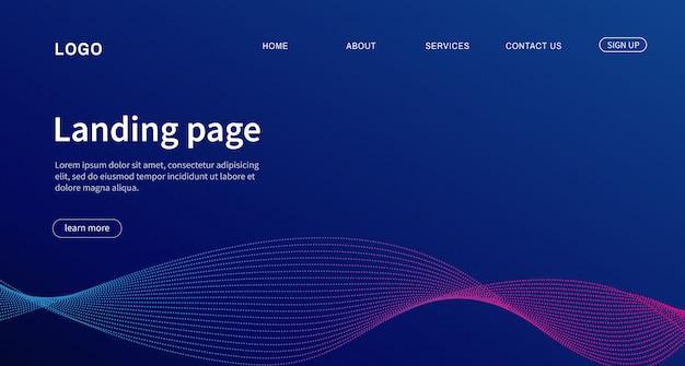 Pagina di destinazione design moderno per sito web.