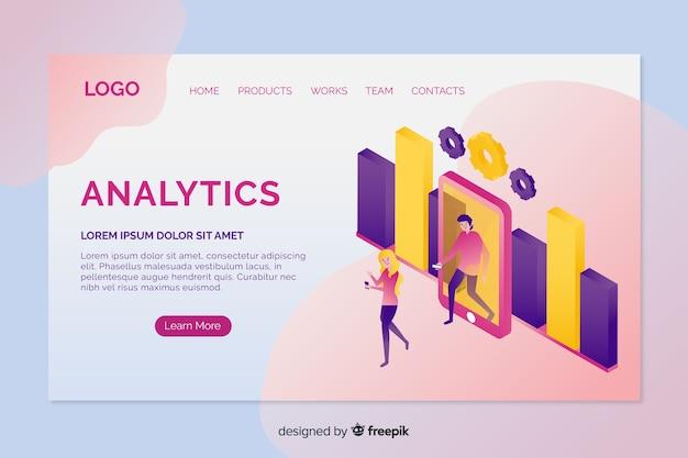 Pagina di destinazione di analytics