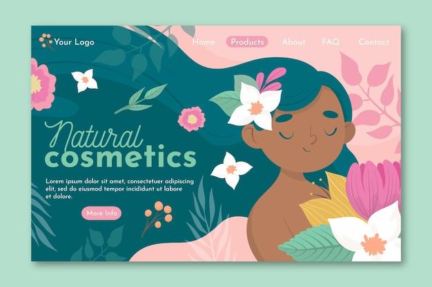 Pagina di destinazione di cosmetici naturali