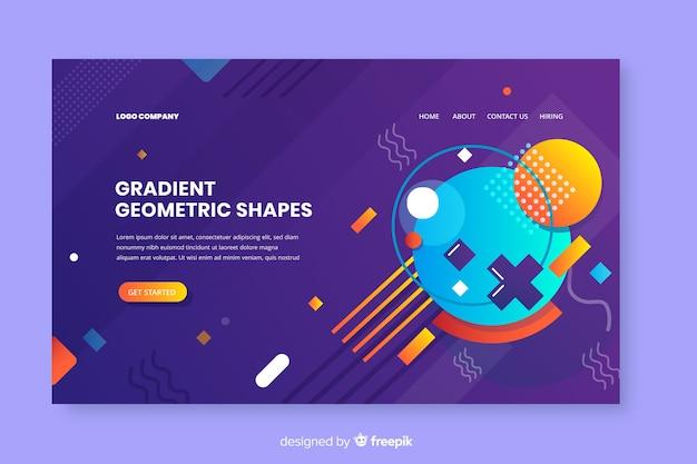 Pagina di destinazione di forme geometriche sfumate