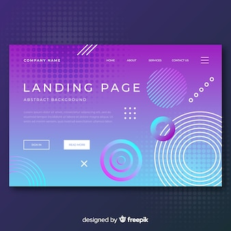 Pagina di destinazione di forme geometriche