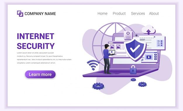 Pagina di destinazione di internet security