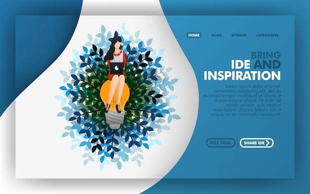 Pagina di destinazione di portare ispirazione e idee