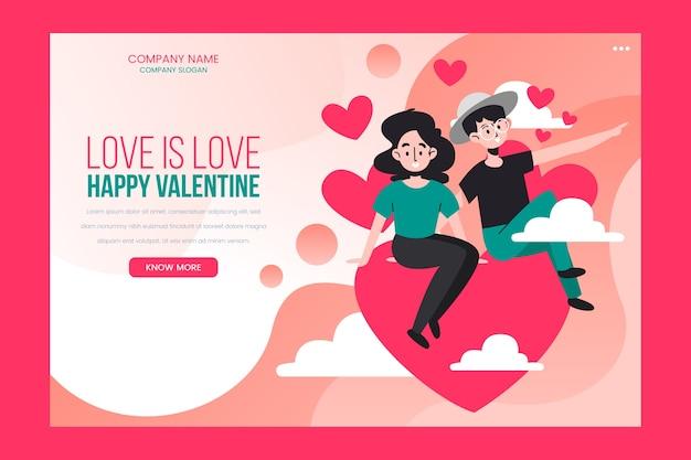 Pagina di destinazione di san valentino
