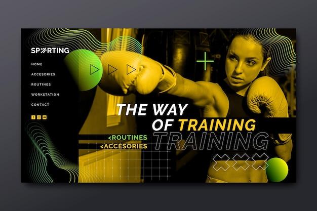 Pagina di destinazione di sport e tecnologia