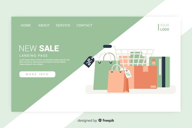 Pagina di destinazione di vendita con bagagli