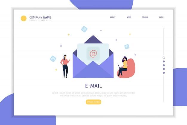 Pagina di destinazione e-mail