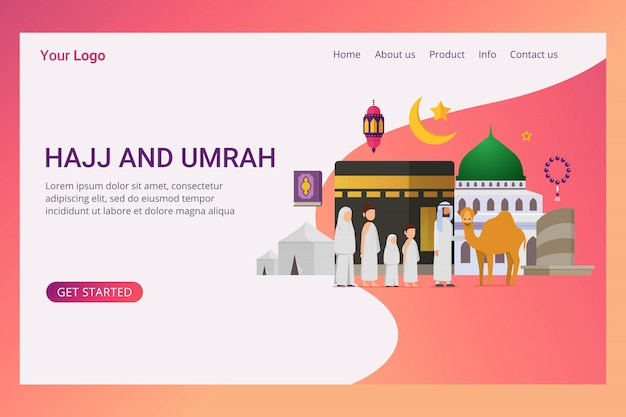 Pagina di destinazione eid adha mubarak concept design
