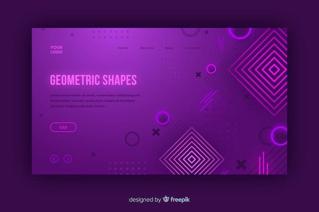 Pagina di destinazione forme geometriche sfumate